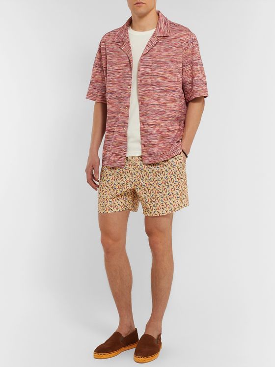 Loro Piana Mid-Length Printed Cotton Swim Shorts