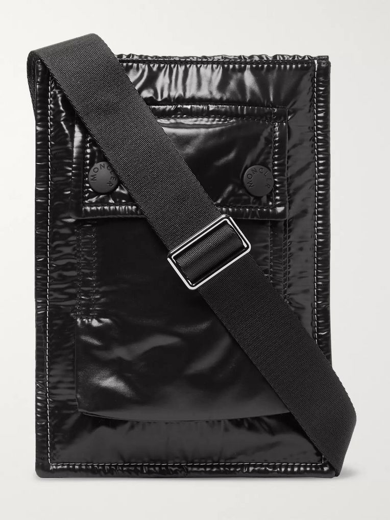Moncler Glossed-Nylon Messenger Bag