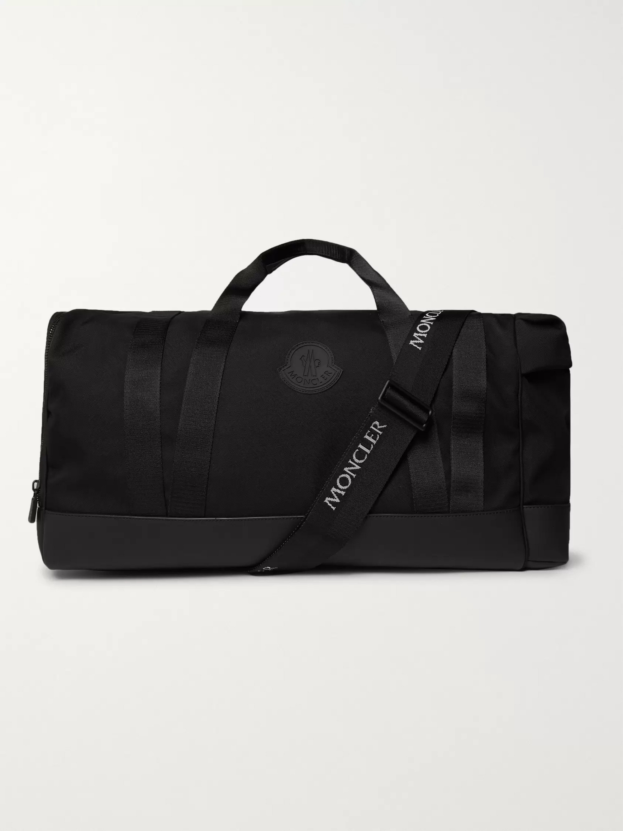 Moncler Leather-Trimmed Nylon Holdall