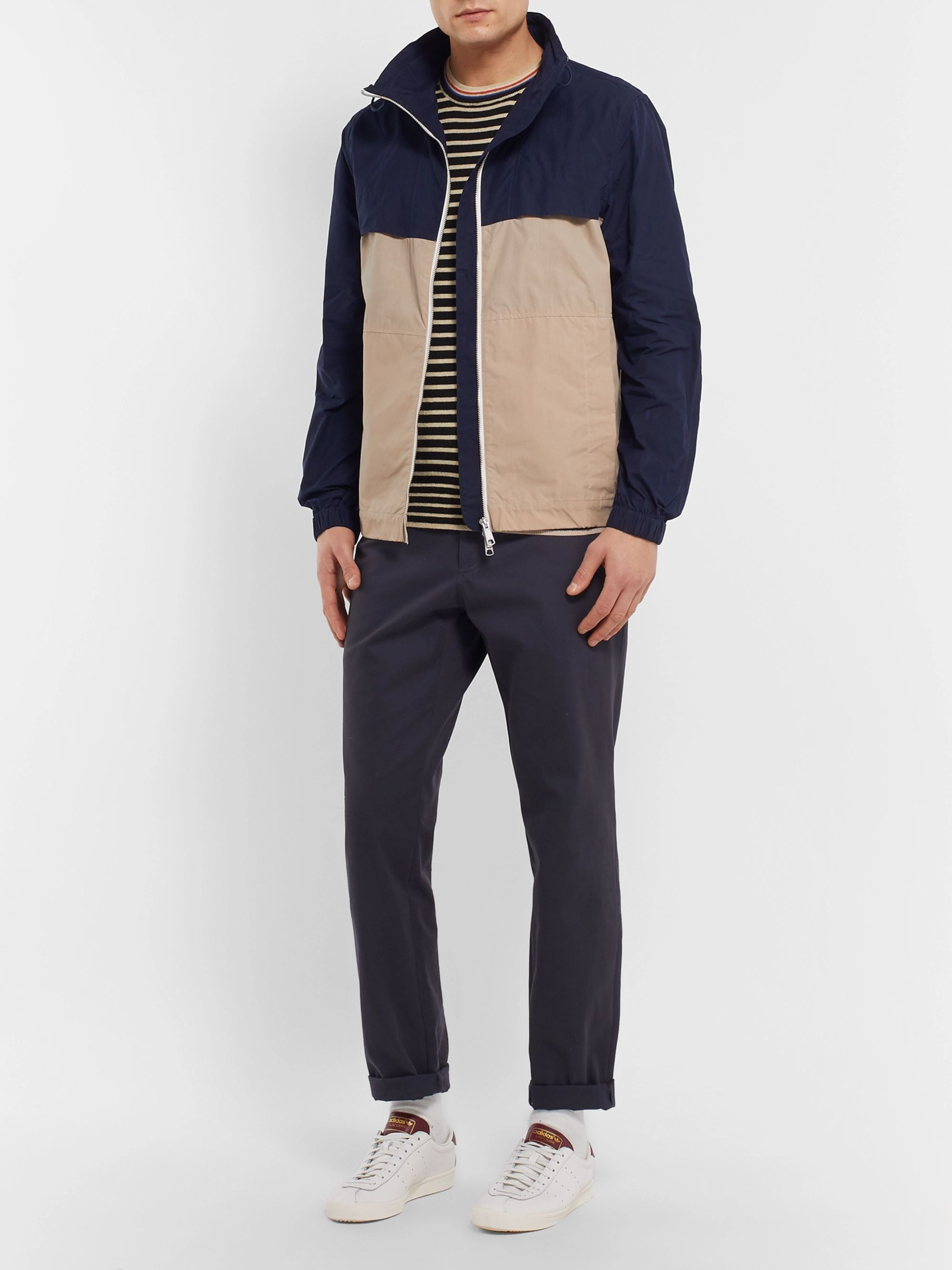 Bellerose Striped Cotton and Wool-Blend Sweater