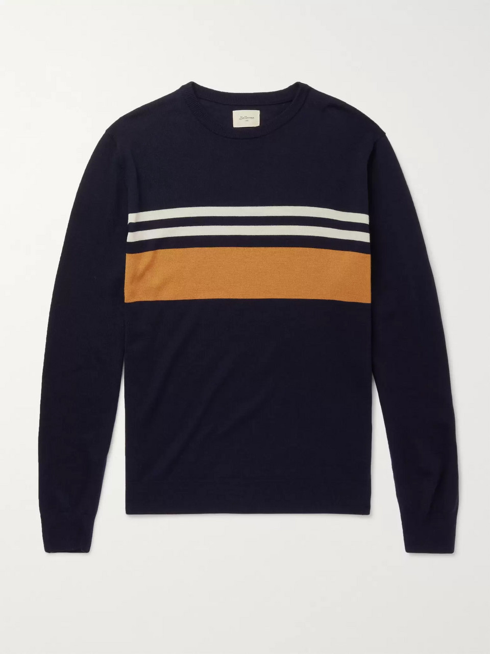 Bellerose Slim-Fit Striped Merino Wool Sweater