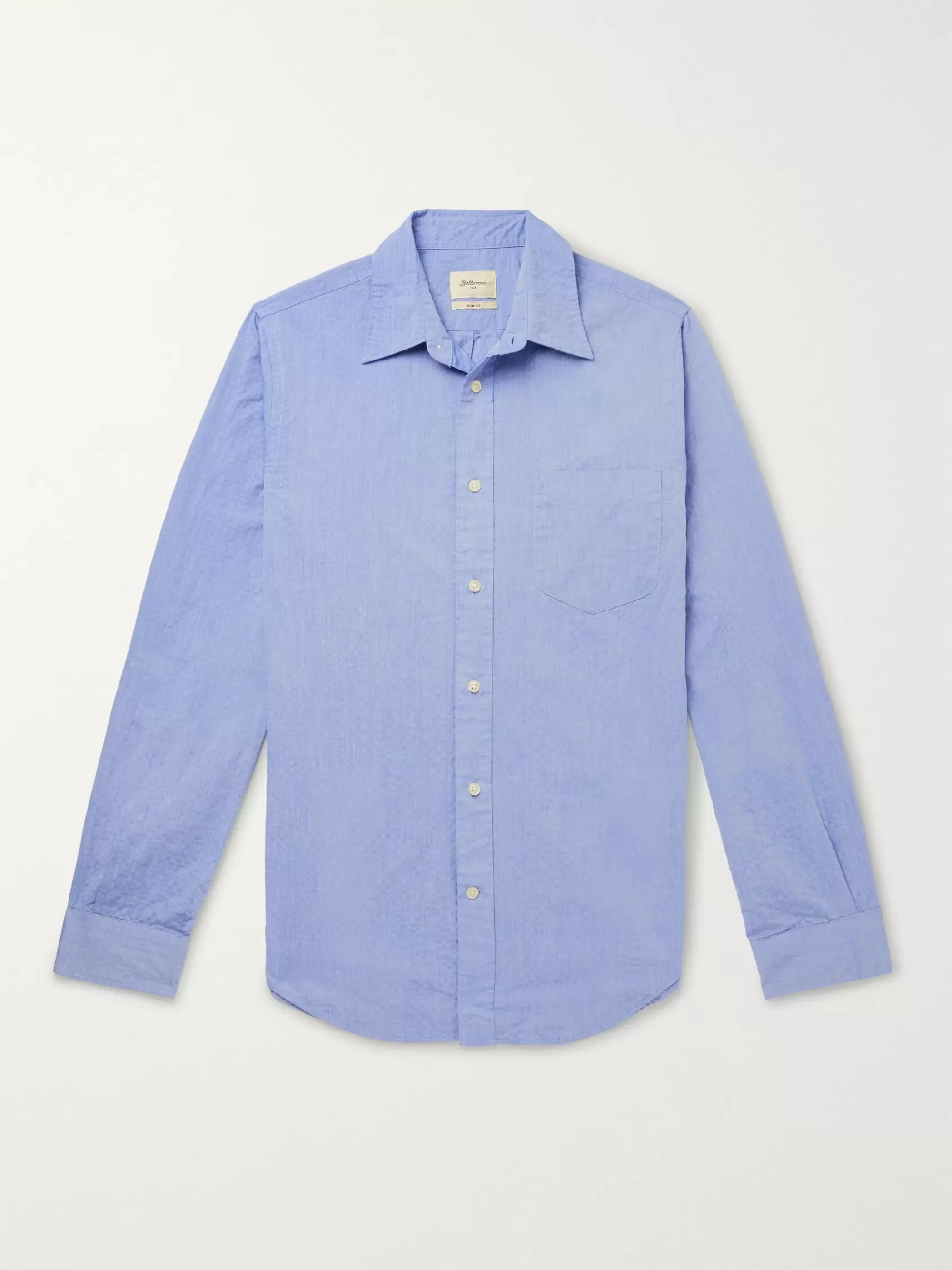 Bellerose Slim-Fit Cotton-Seersucker Shirt