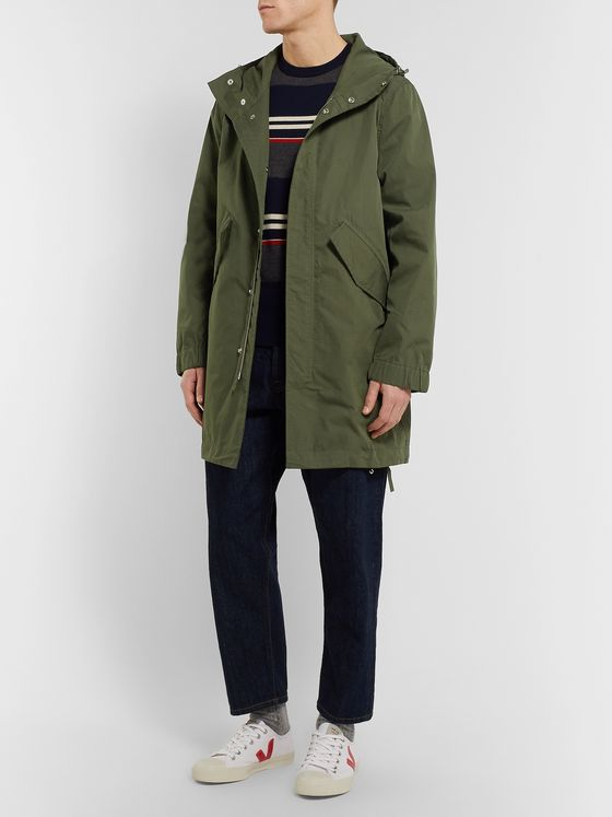 Bellerose Cotton and Nylon-Blend Ripstop Hooded Jacket