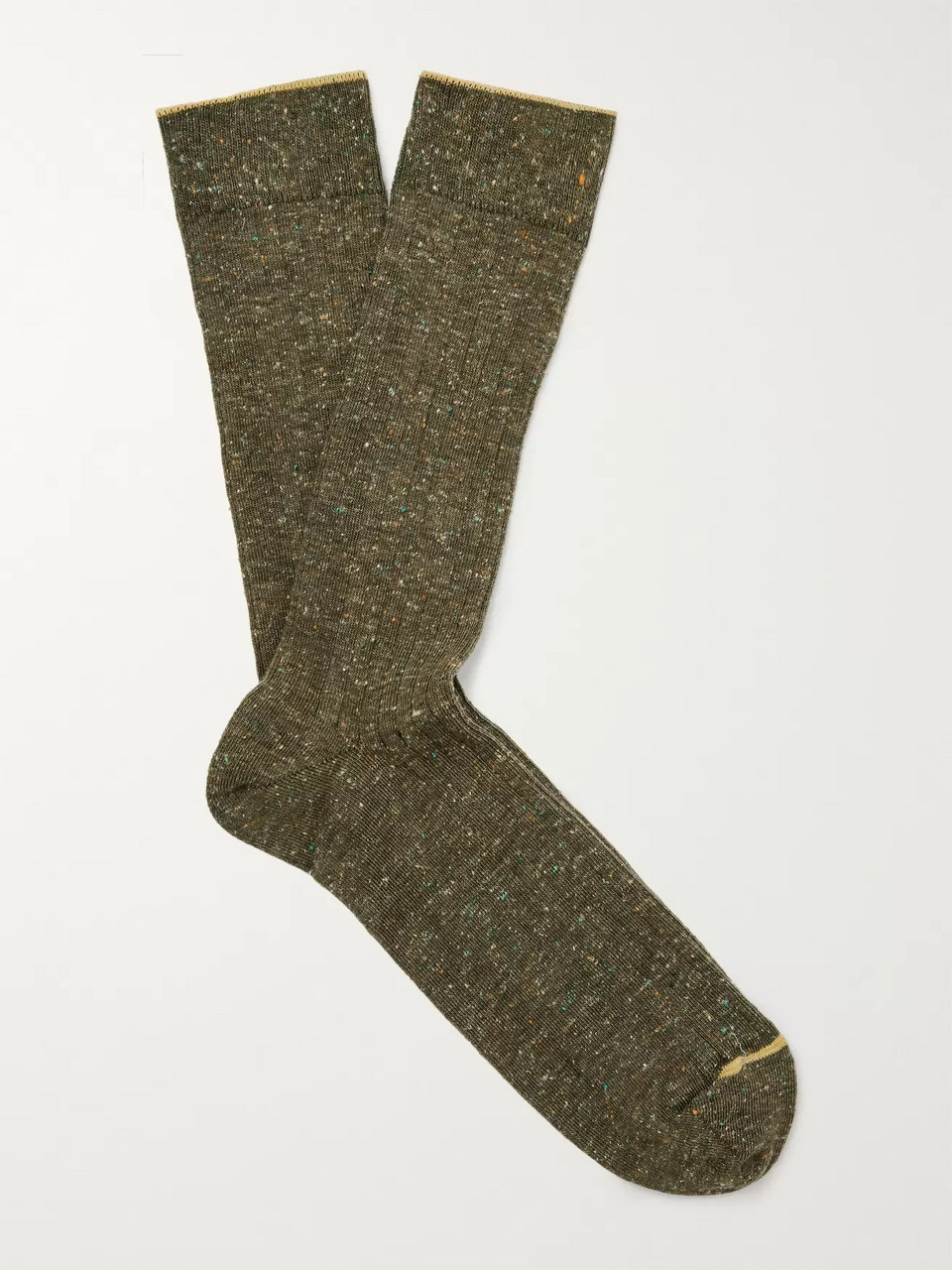 Bellerose Ribbed Mélange Cotton-Blend Socks