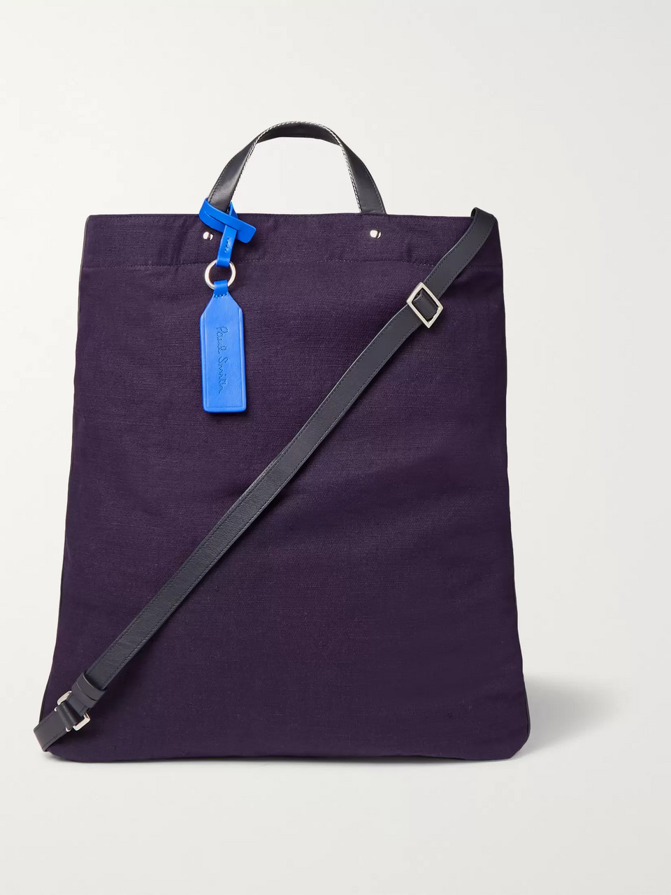 Paul Smith Leather-Trimmed Canvas Tote Bag