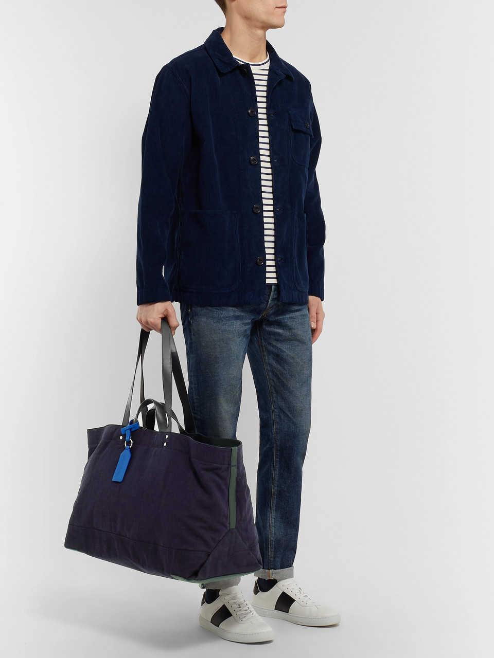 Paul Smith Leather-Trimmed Canvas Holdall