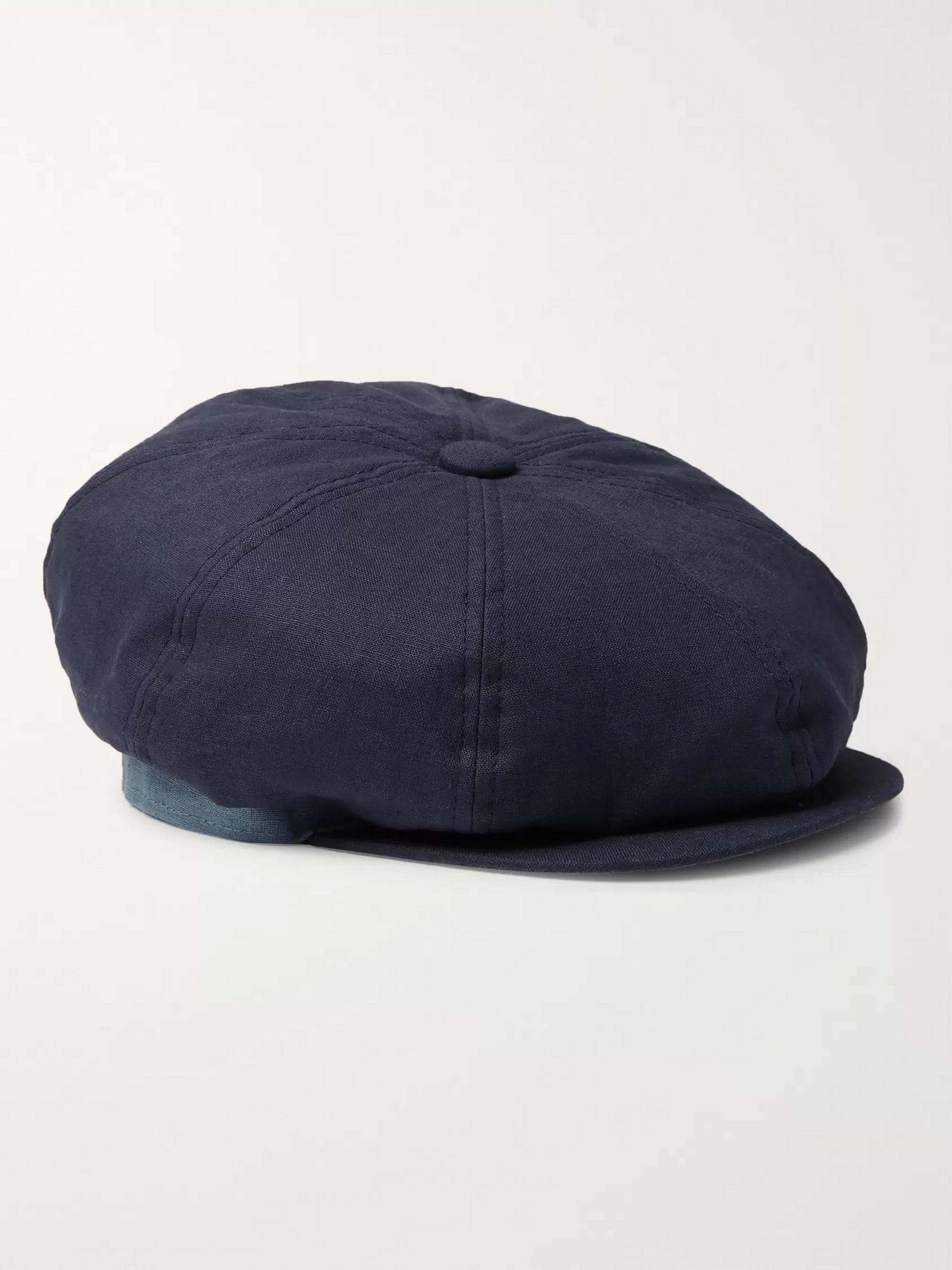 939f5b999 Linen Flat Cap