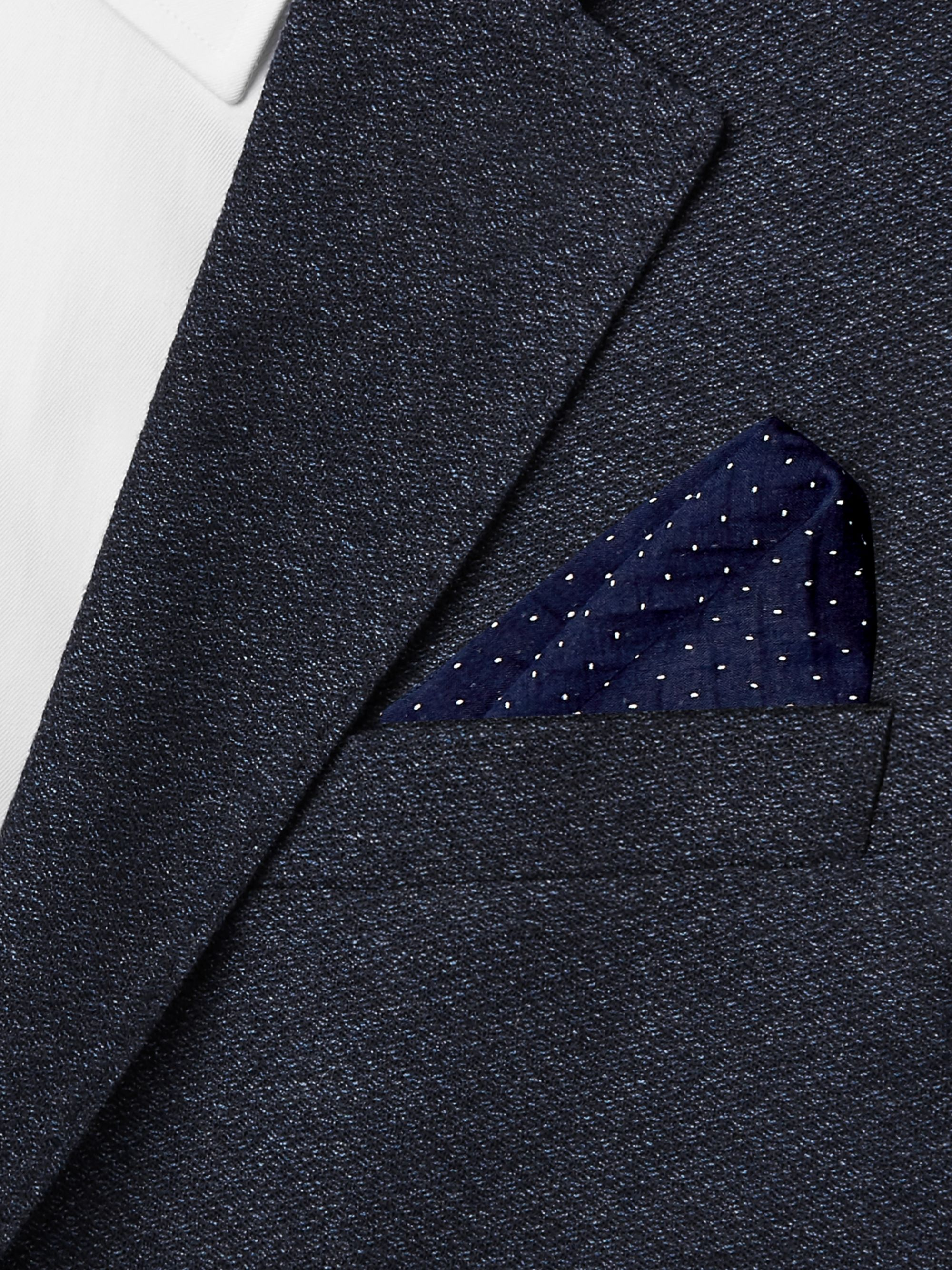 Paul Smith Embroidered Pin-Dot Cotton and Silk-Blend Voile Pocket Square