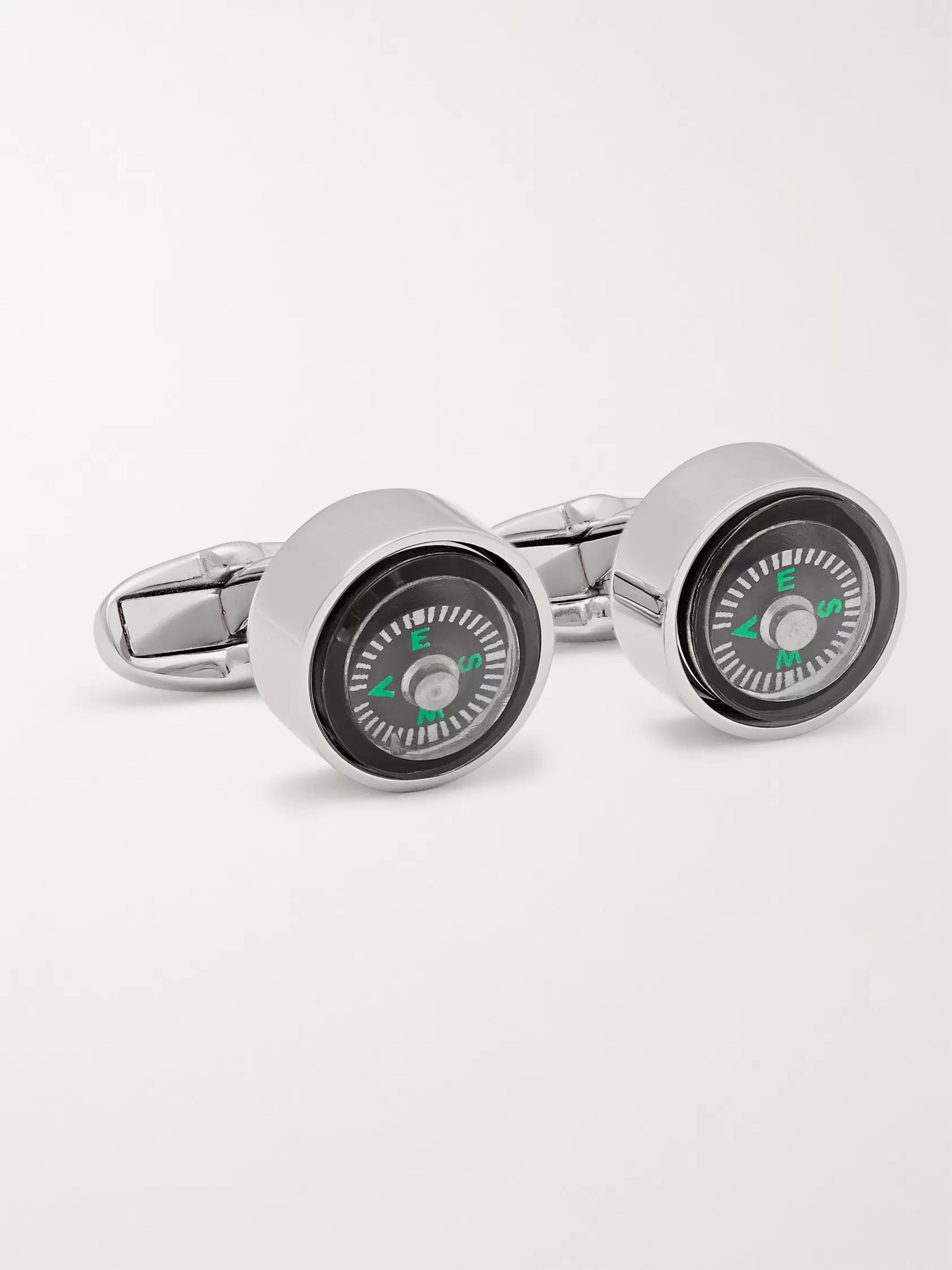Paul Smith Compass Silver-Tone Cufflinks