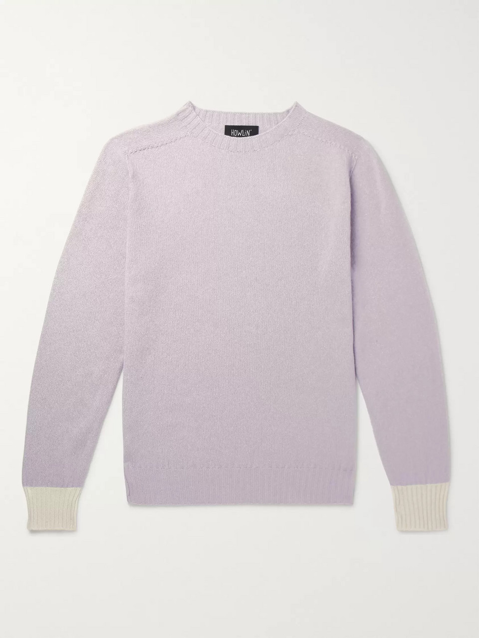 Howlin' Life In Reverse Two-Tone Wool and Cotton-Blend Sweater