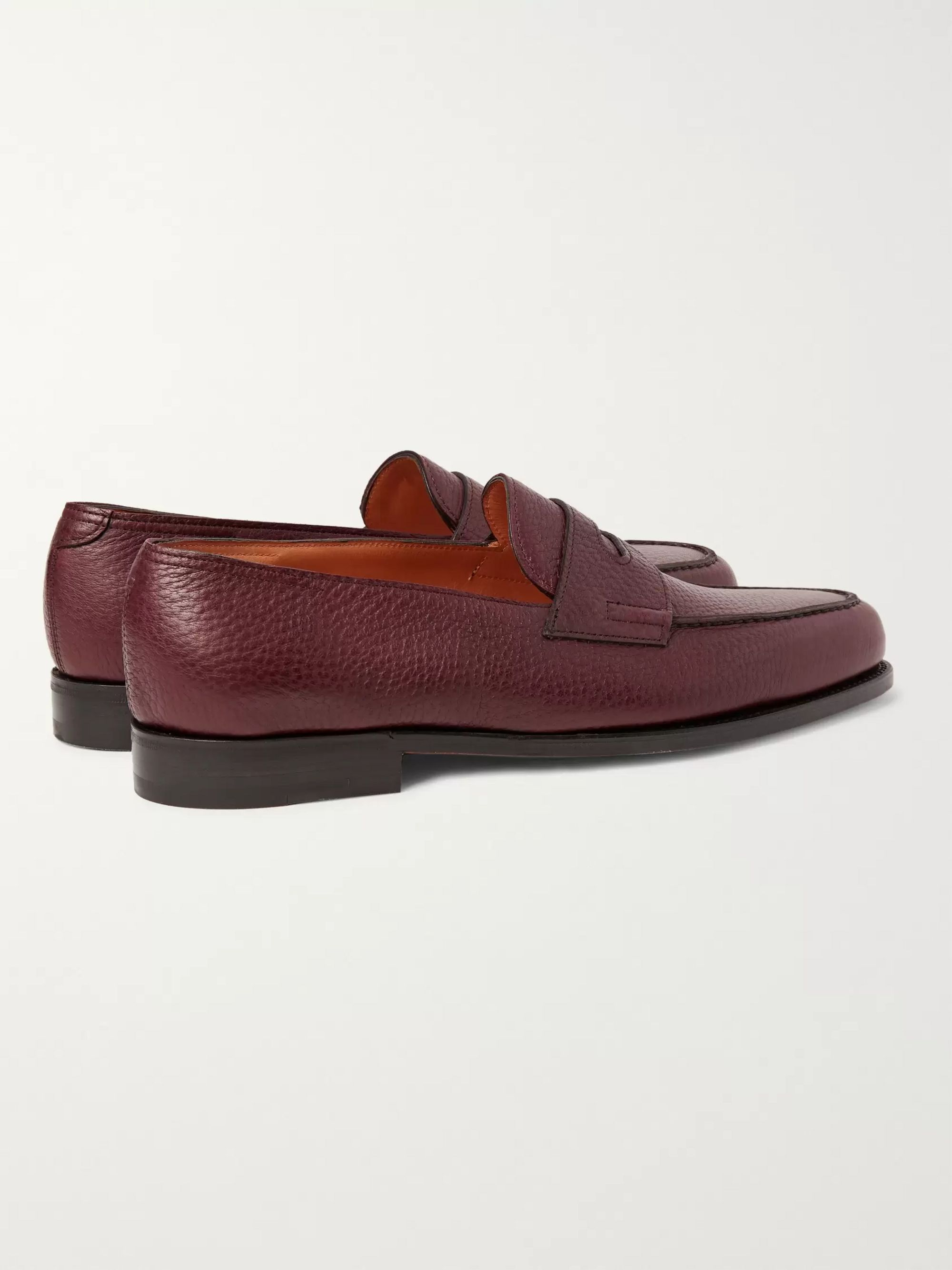 John Lobb Lopez Full-Grain Leather Penny Loafers