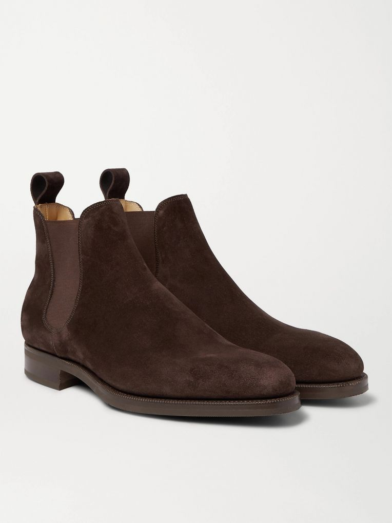 Edward Green Camden Suede Chelsea Boots