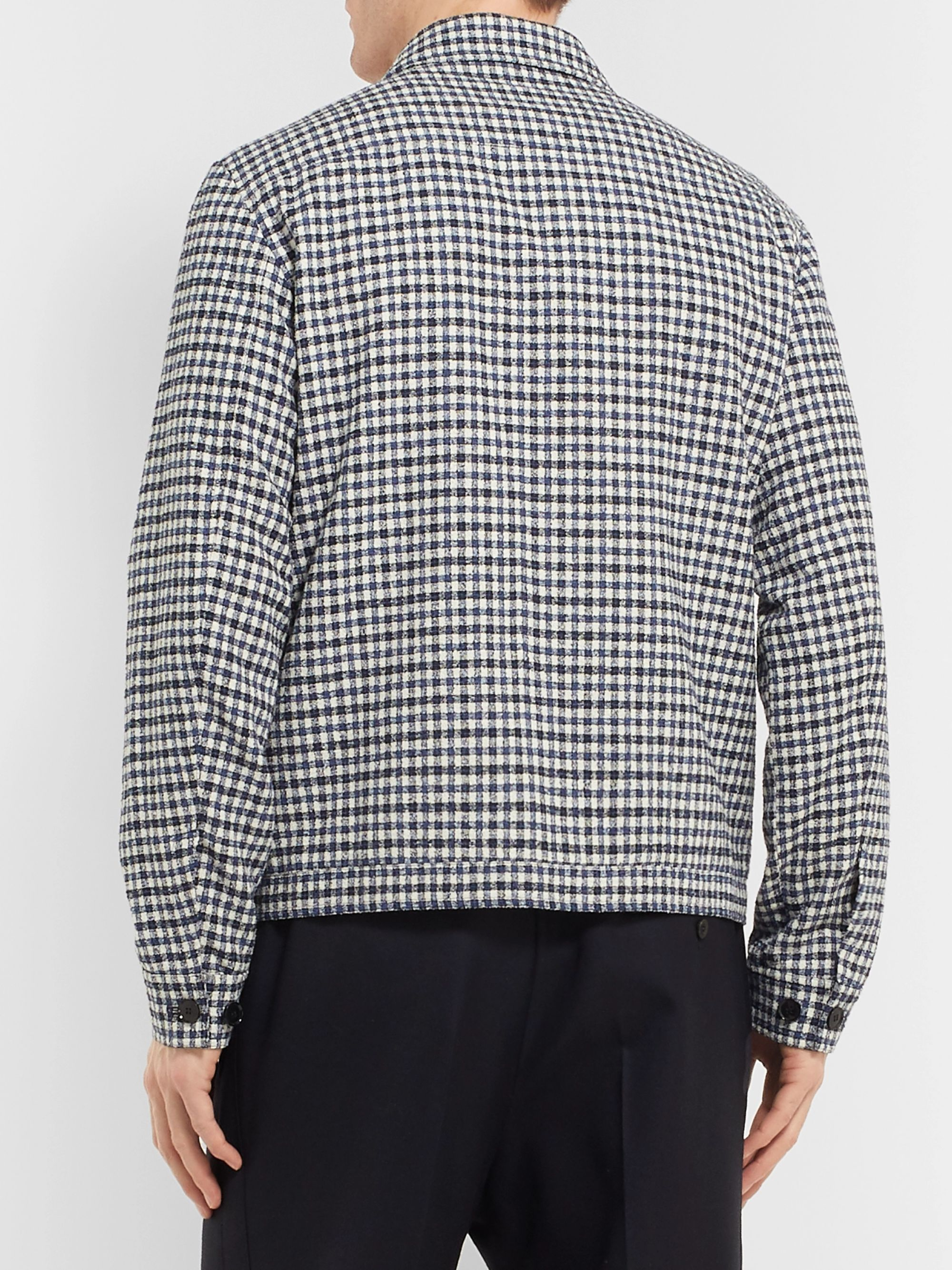 Mr P. Checked Cotton-Blend Bouclé Jacket
