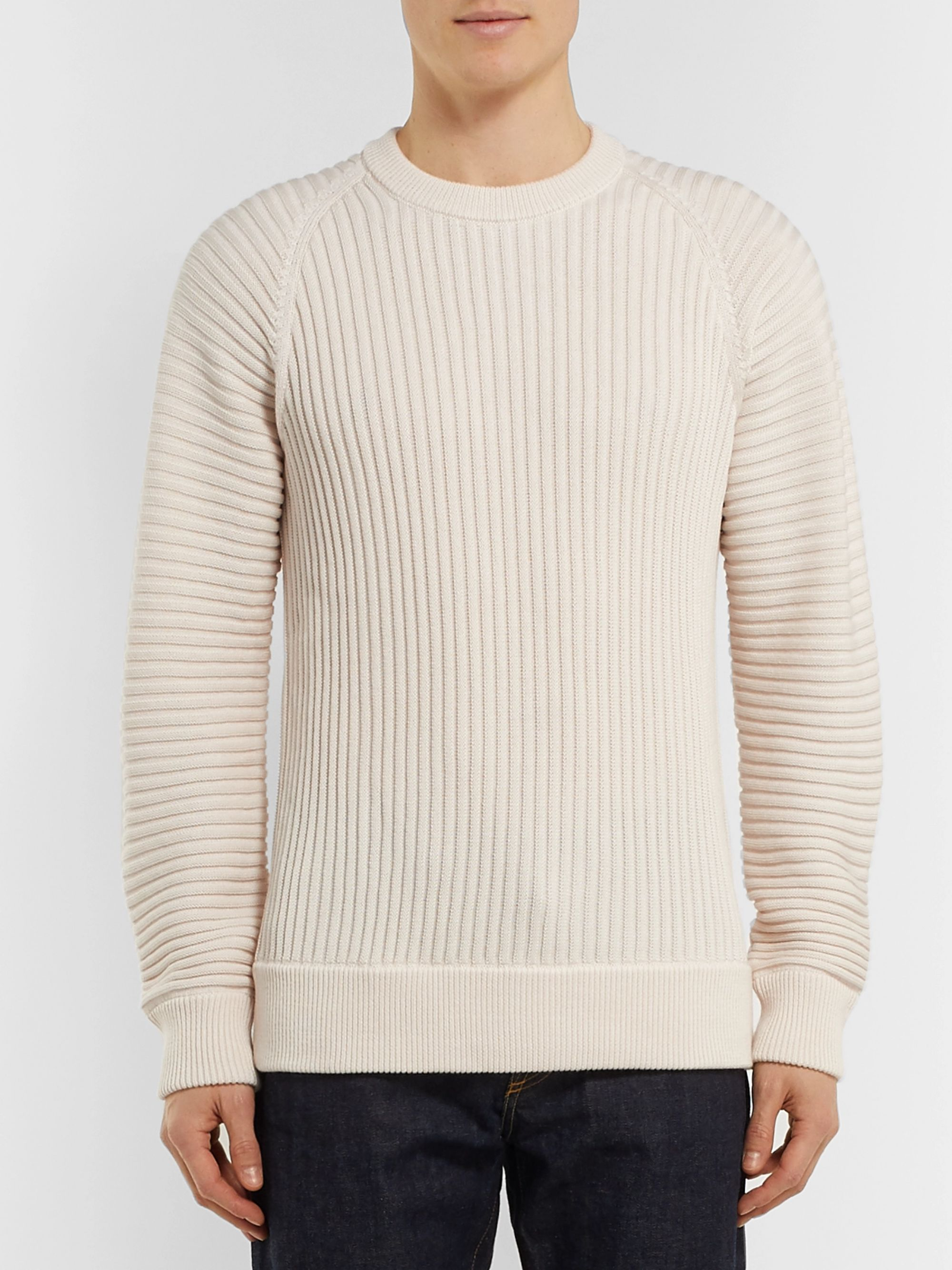 Mr P. Ribbed Merino Wool Sweater