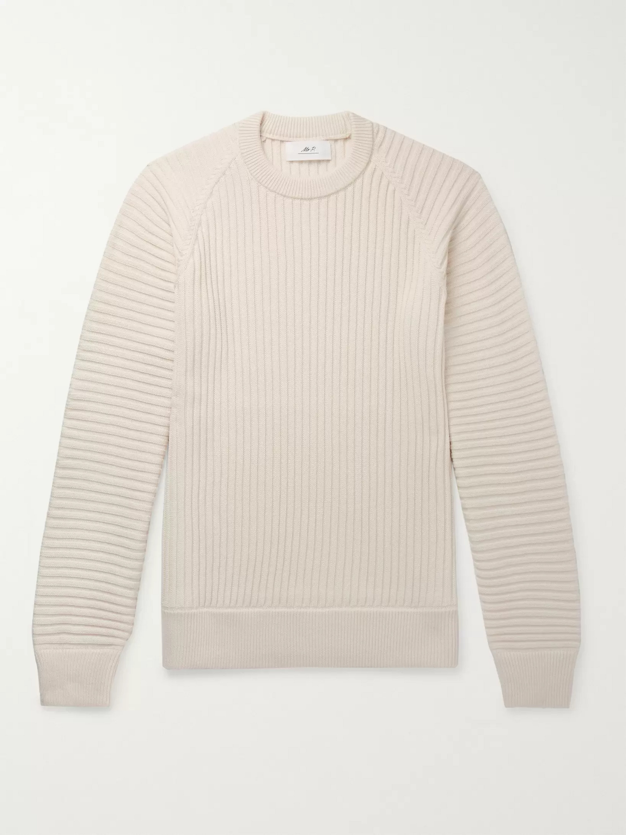 Mr P. Slim-Fit Ribbed Merino Wool Sweater