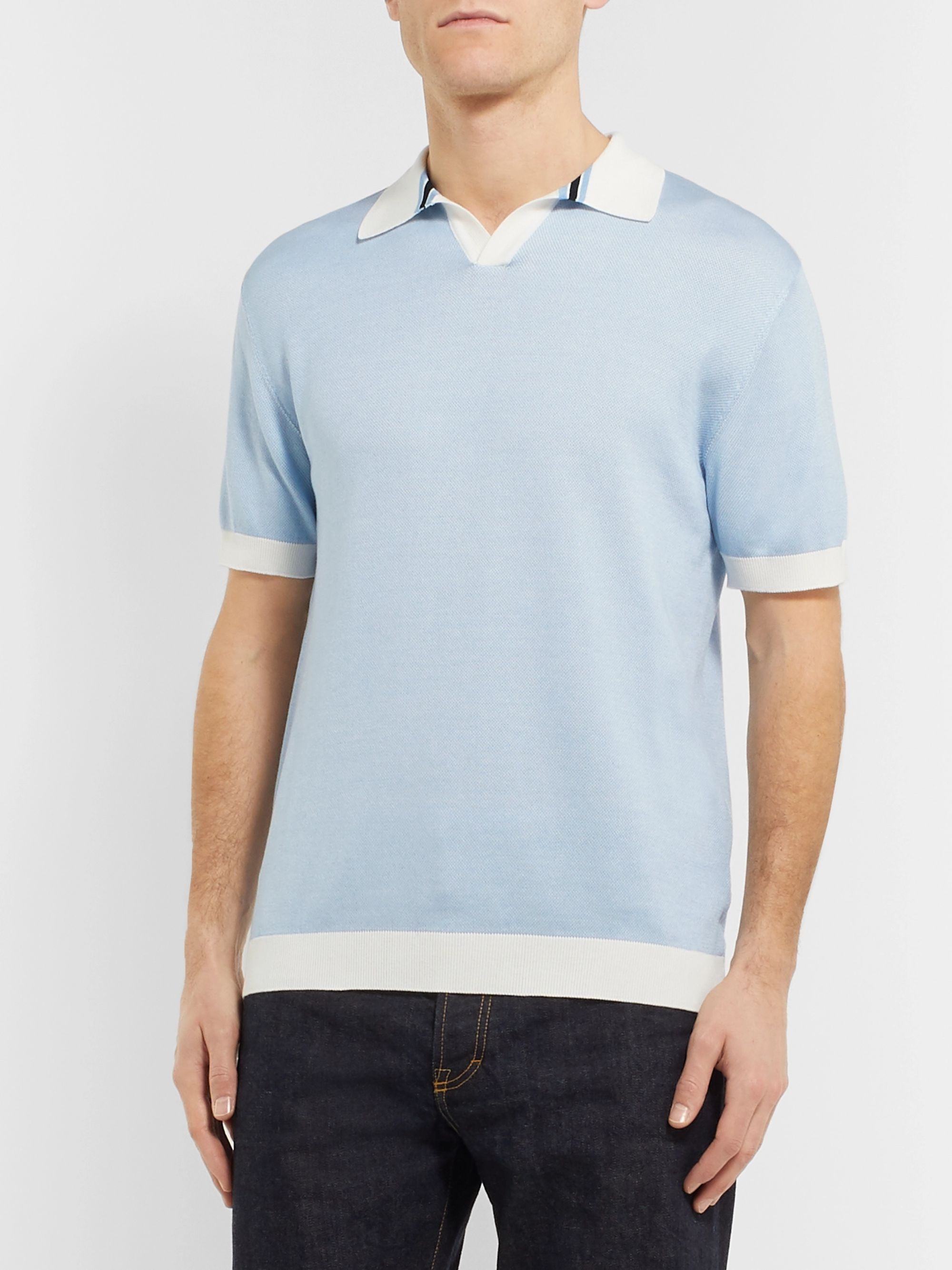 Mr P. Cotton-Piqué Polo Shirt
