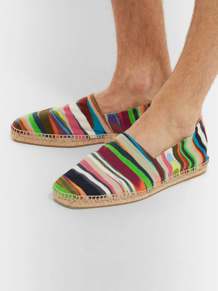 Castañer + Missoni Striped Canvas Espadrilles