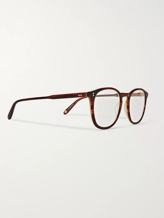 Garrett Leight California Optical Kinney 49 Square-Frame Tortoiseshell Acetate Optical Glasses