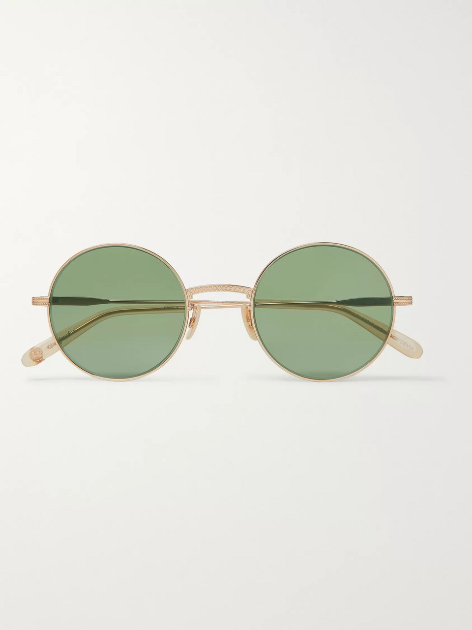 Garrett Leight California Optical Seville 48 Round-Frame Gold-Tone Sunglasses