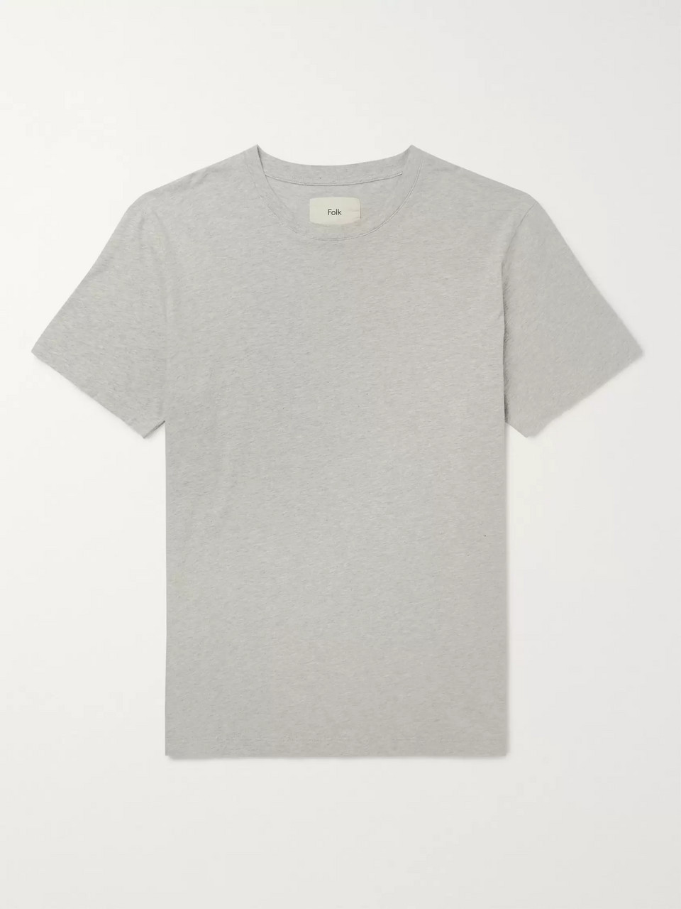 Folk Assembly Mélange Cotton-Jersey T-Shirt
