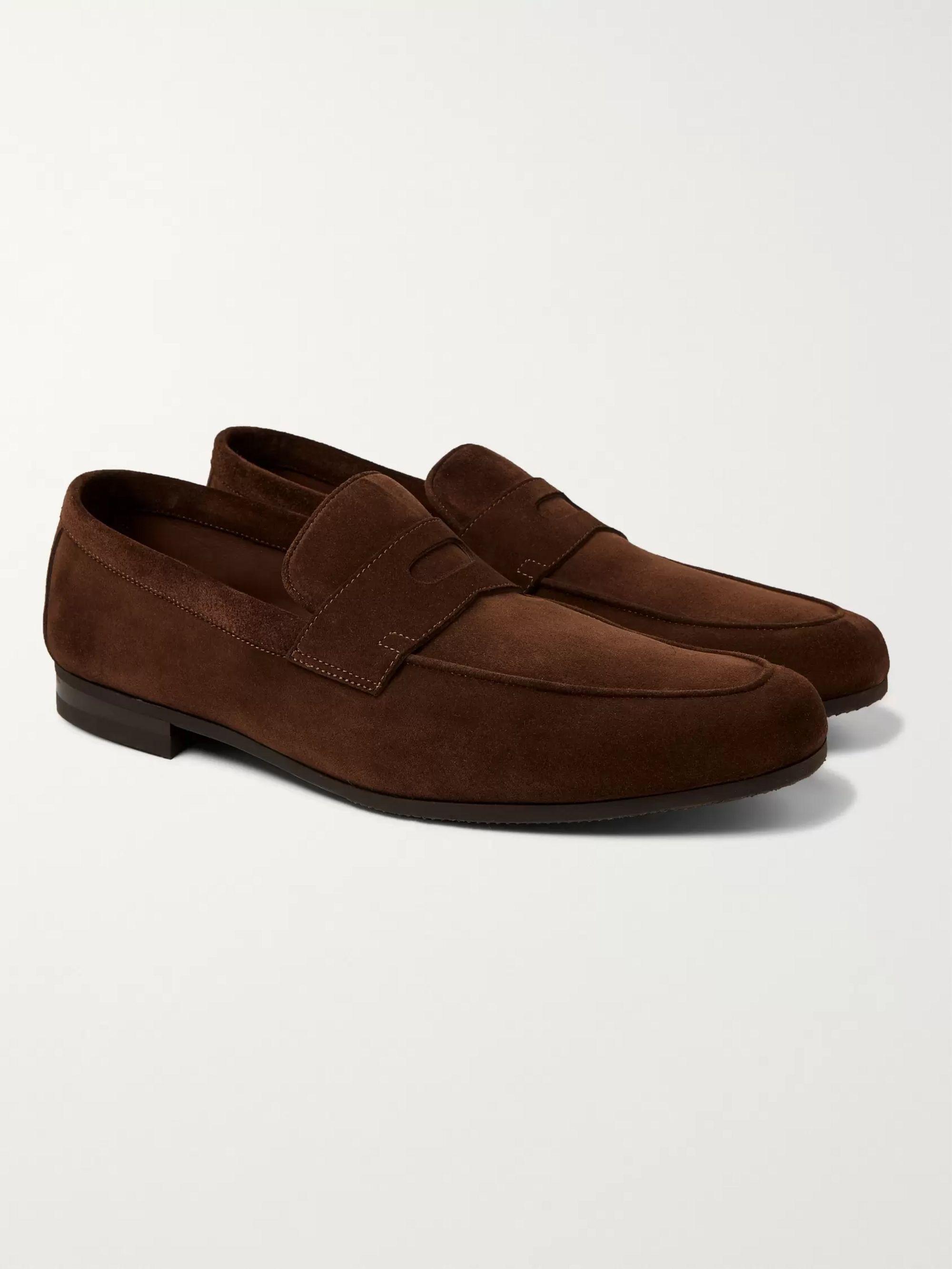 john lobb suede shoes