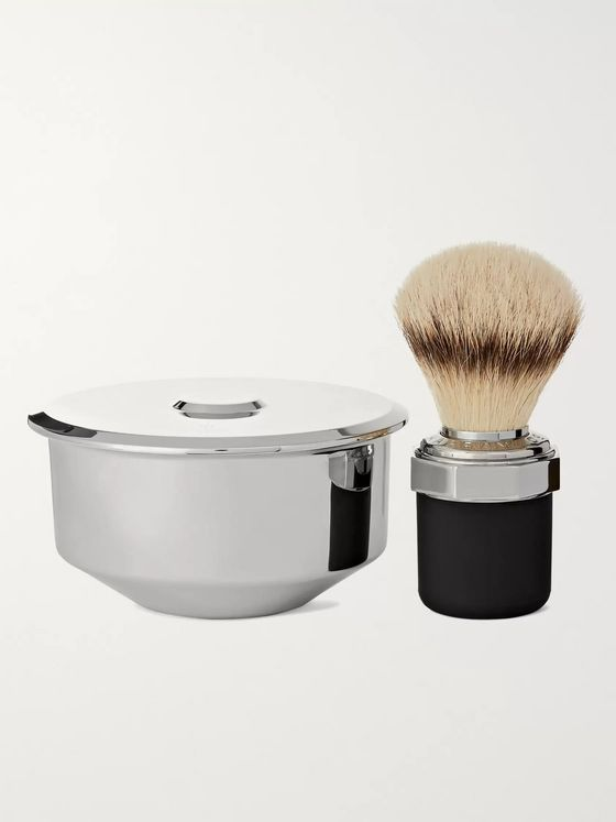 Marram Co Two-Piece Stainless Steel and Chrome-Plated Shaving Set