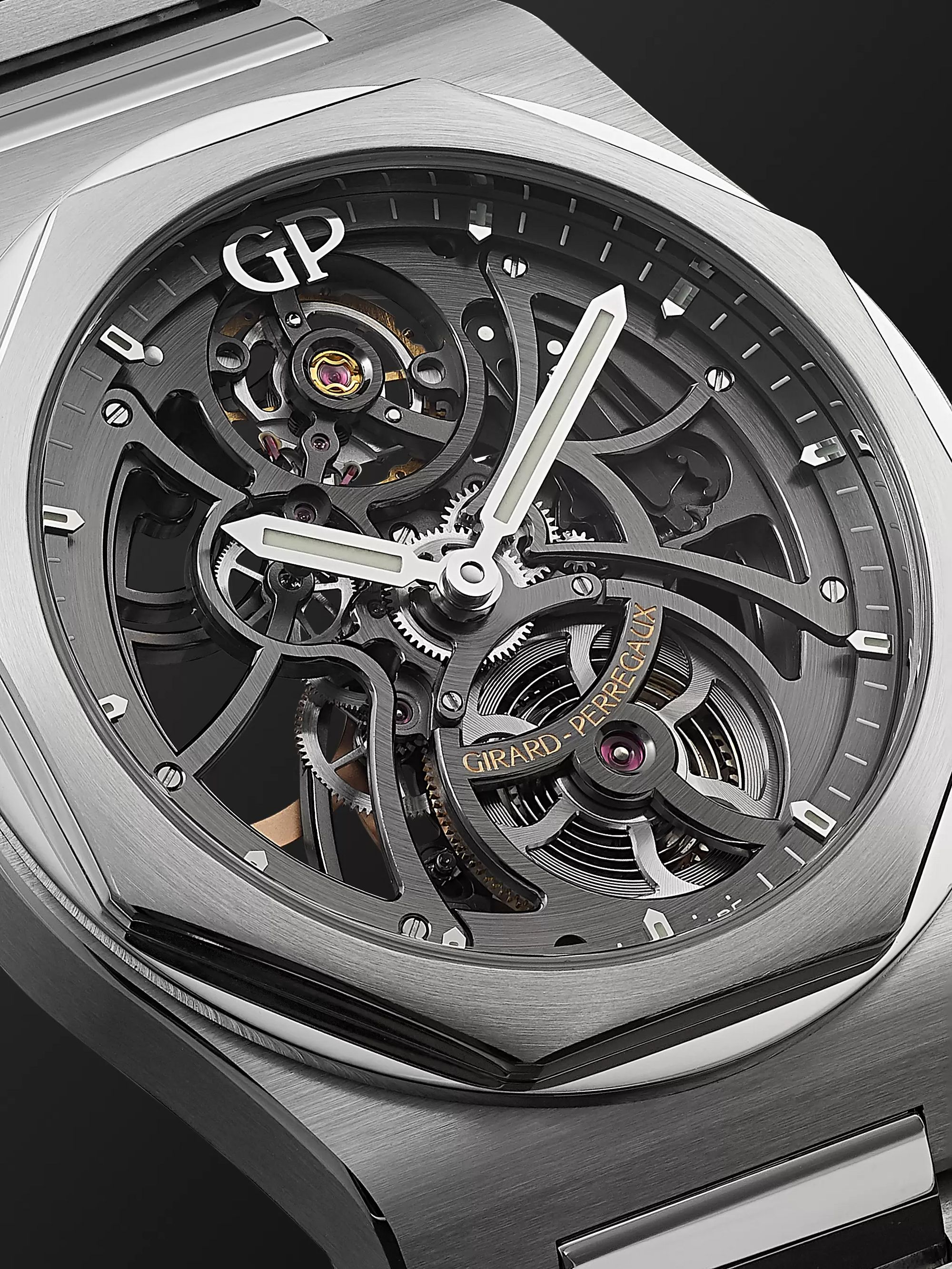 Girard-Perregaux Laureato Automatic Skeleton 42mm Stainless Steel Watch, Ref. No. 81015-11-001-11A