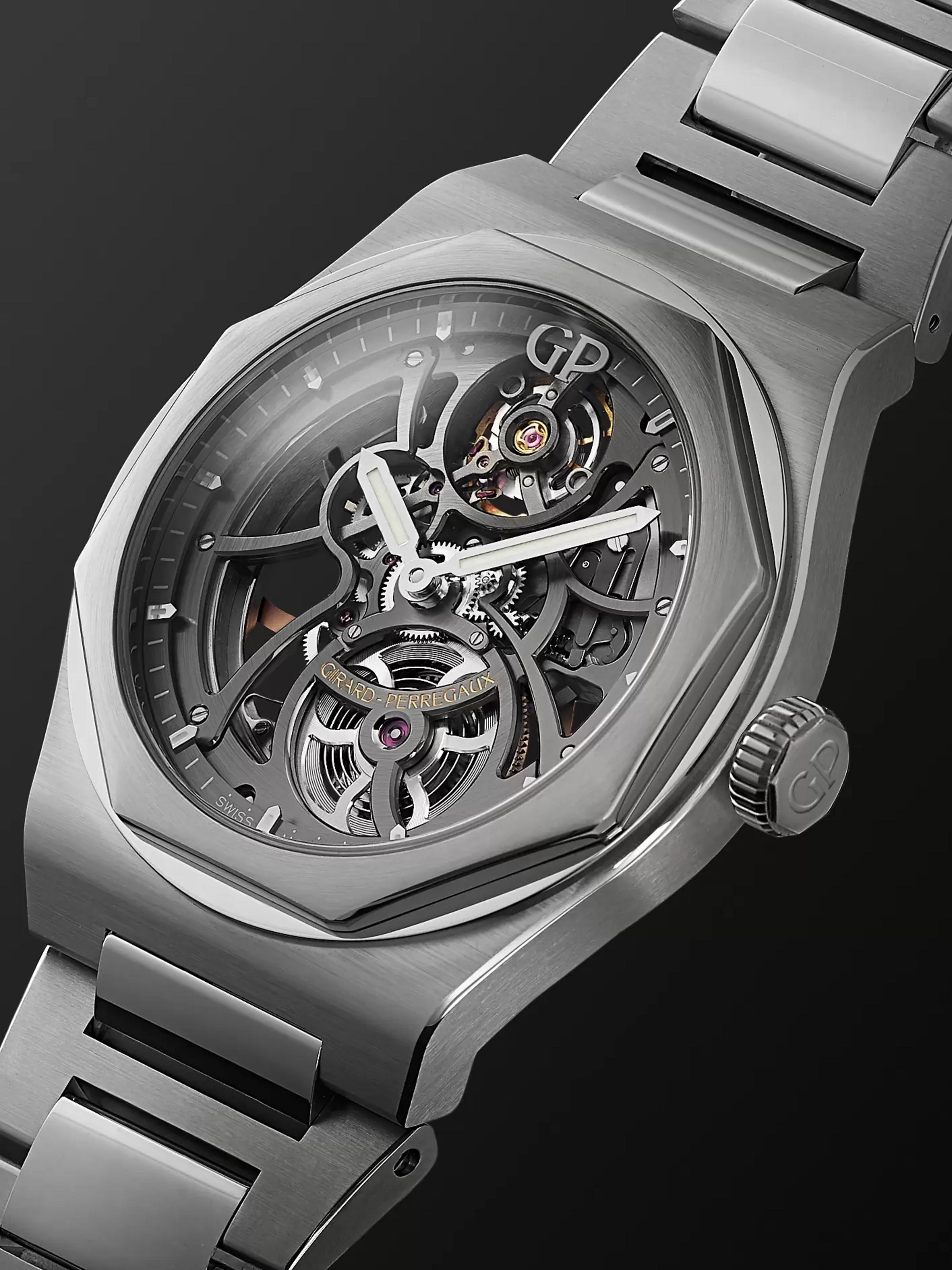 Girard-Perregaux Laureato Automatic Skeleton 42mm Stainless Steel Watch