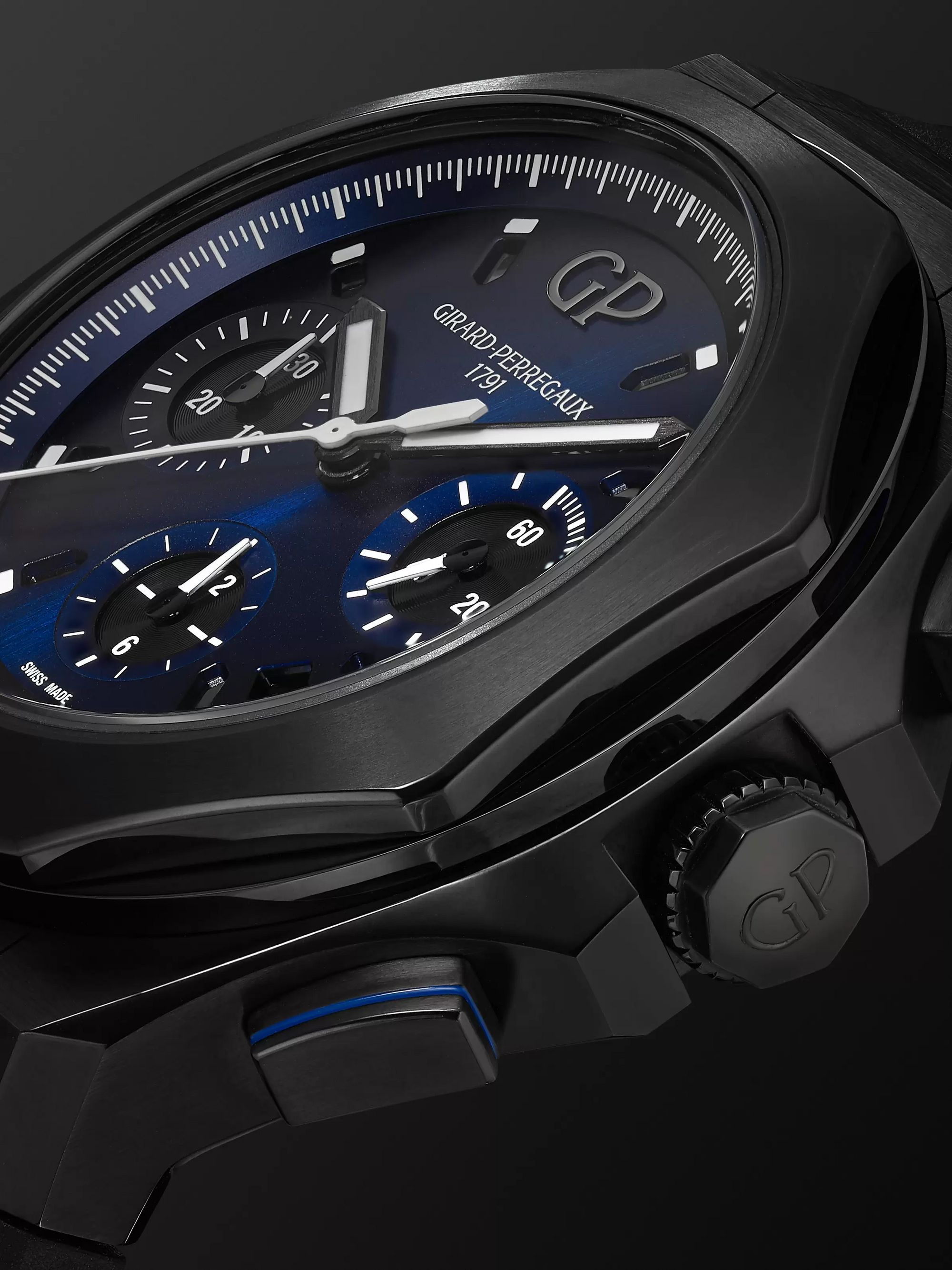 Girard-Perregaux Laureato Absolute Automatic Chronograph 44mm Titanium and Rubber Watch, Ref. No. 81060-21-491-FH6A