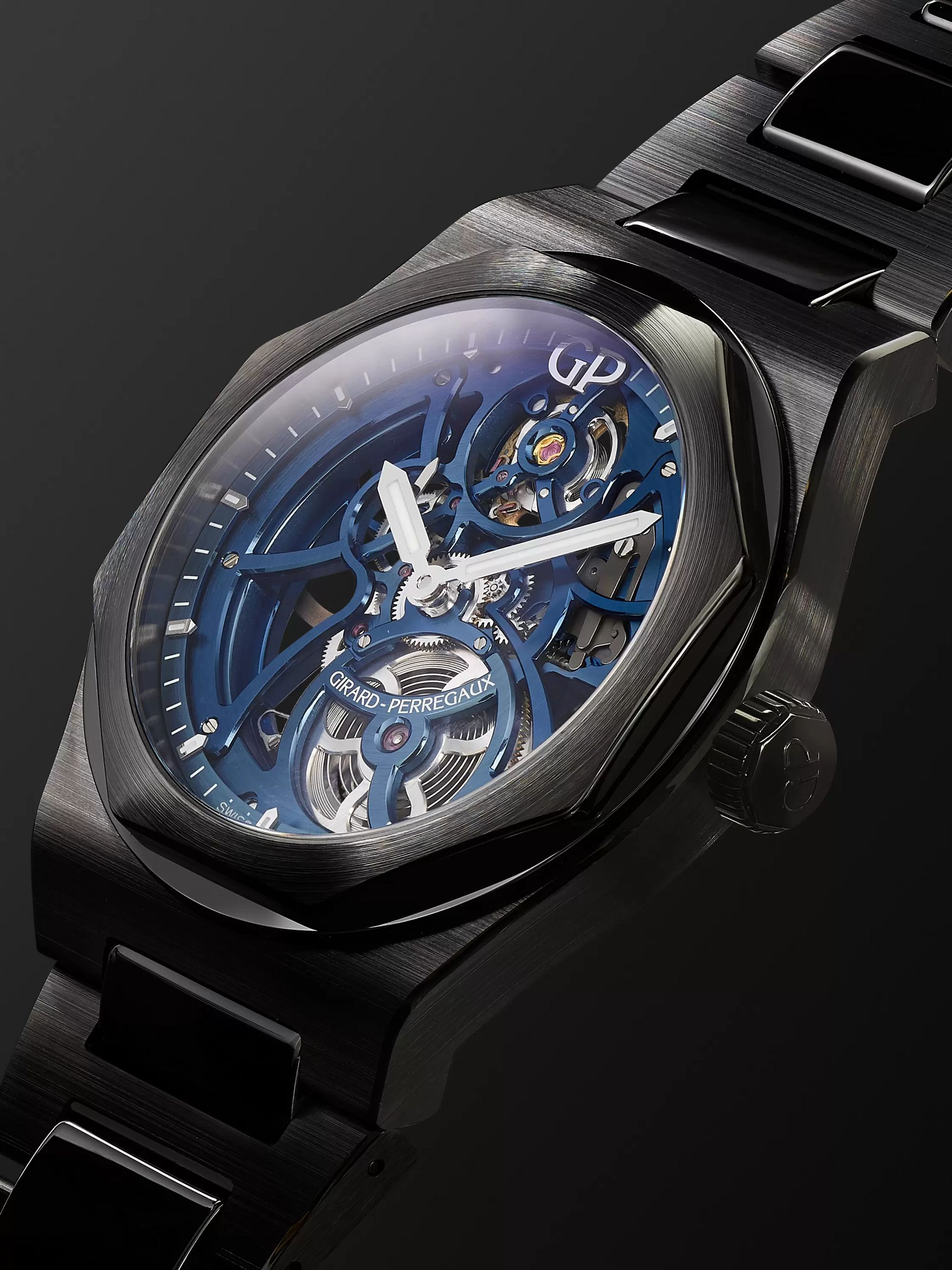 GIRARD-PERREGAUX Laureato Skeleton Automatic 42mm Ceramic Watch, Ref. No. 81015-21-001-32A