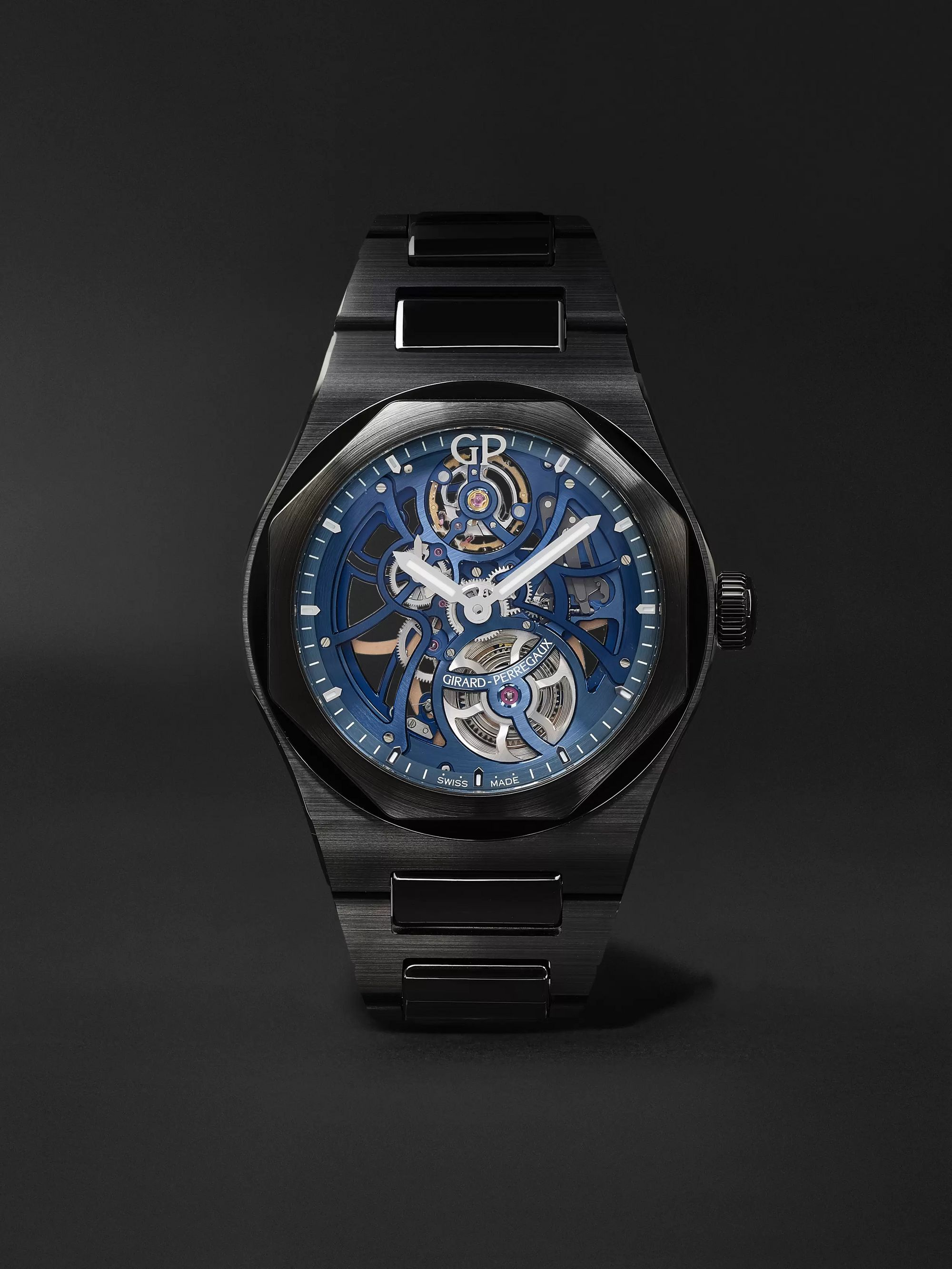 Girard-Perregaux Laureato Earth To Sky Automatic Skeleton 42mm Ceramic Watch, Ref. No. 81015-32-432-32A