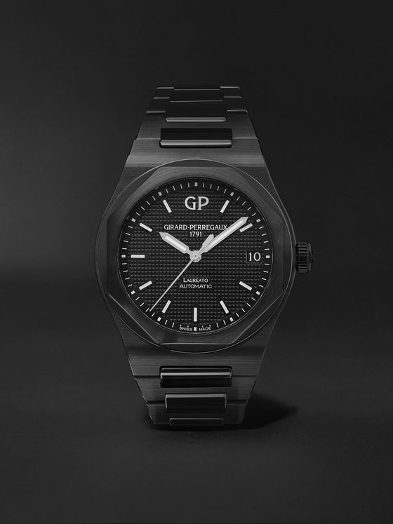 Girard-Perregaux Laureato Automatic 42mm Ceramic Watch, Ref. No. 81010-32-631-32A