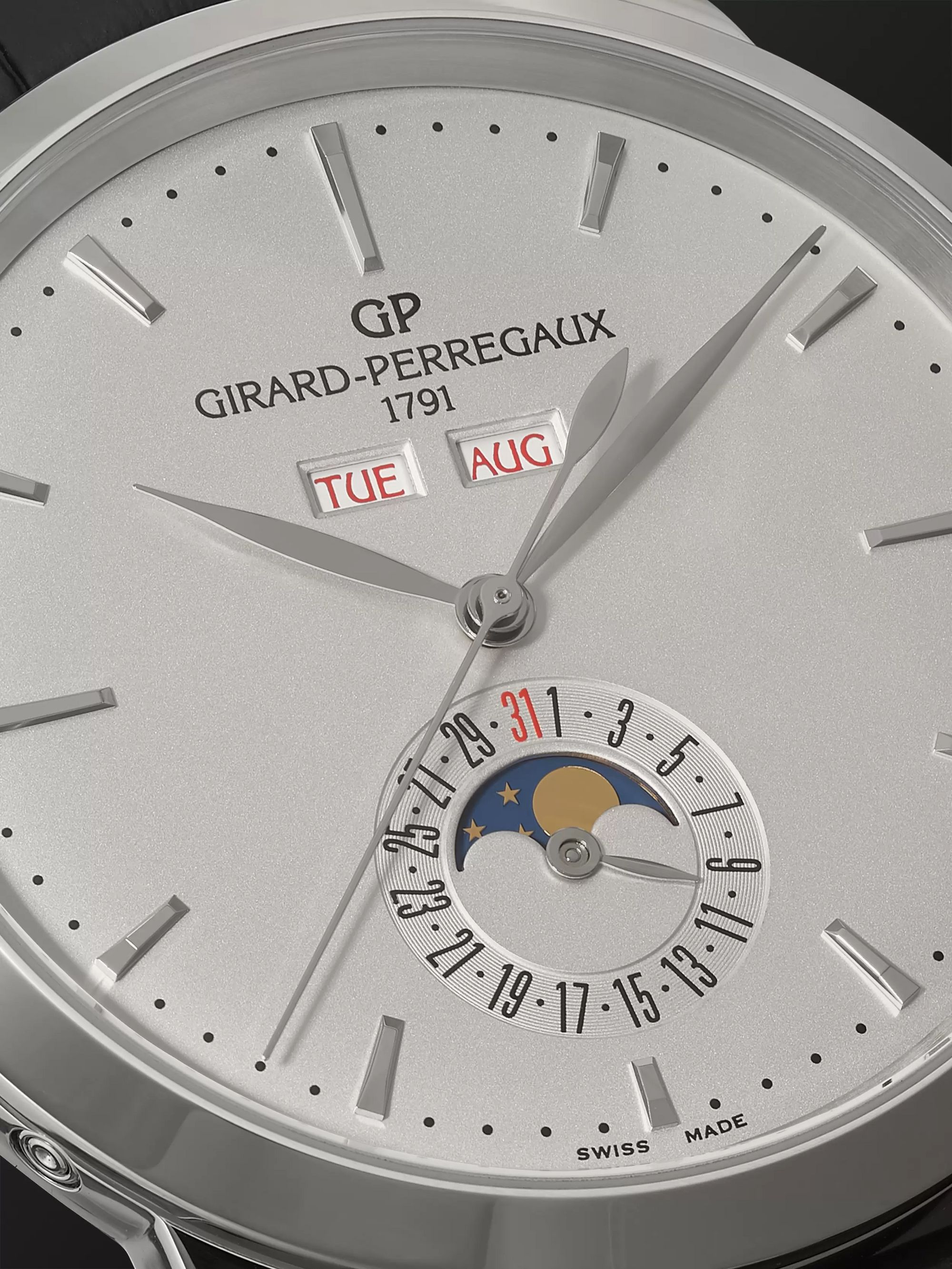 Girard-Perregaux 1966 Full Calendar Automatic 40mm Stainless Steel and Alligator Watch, Ref. No. 49535-11-131-BB60
