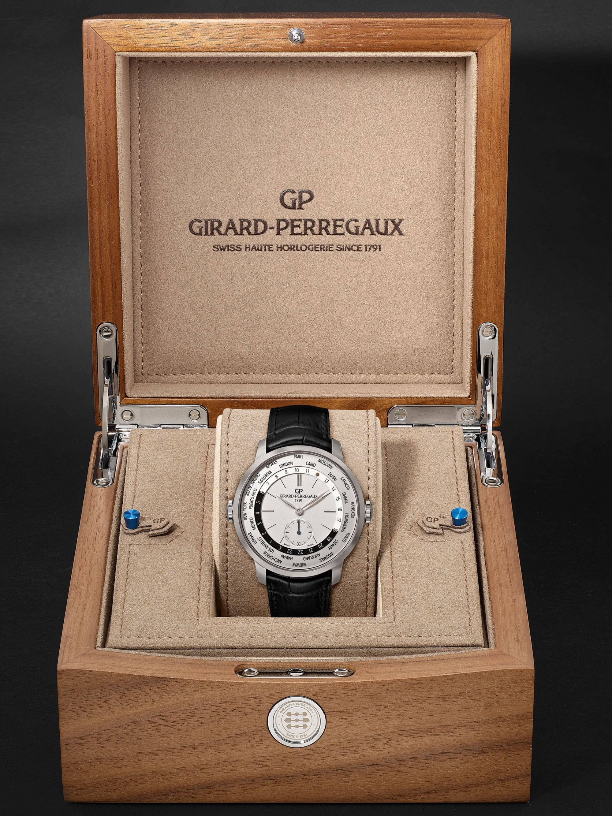 Girard-Perregaux 1966 WW.TC Automatic 40mm Stainless Steel and Alligator Watch