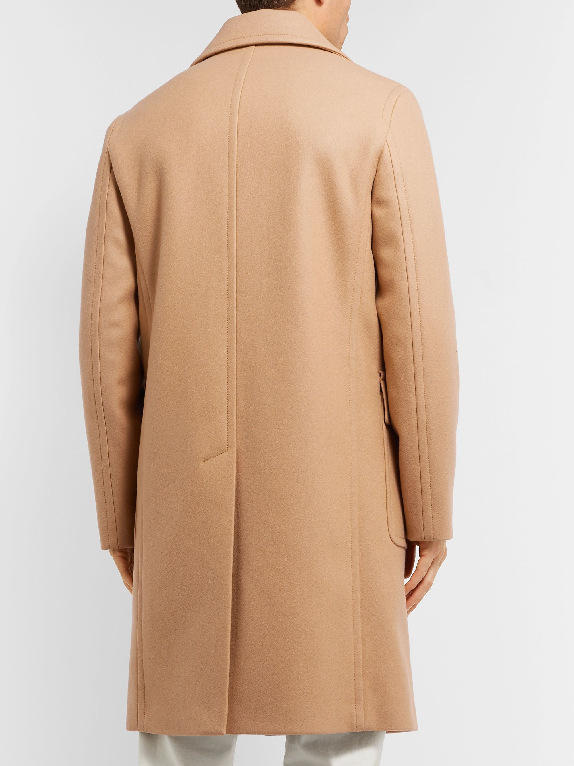 Mr P. Oversized Double-Breasted Virgin Wool Coat