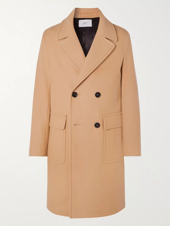 MR P. Double-Breasted Virgin Wool Coat