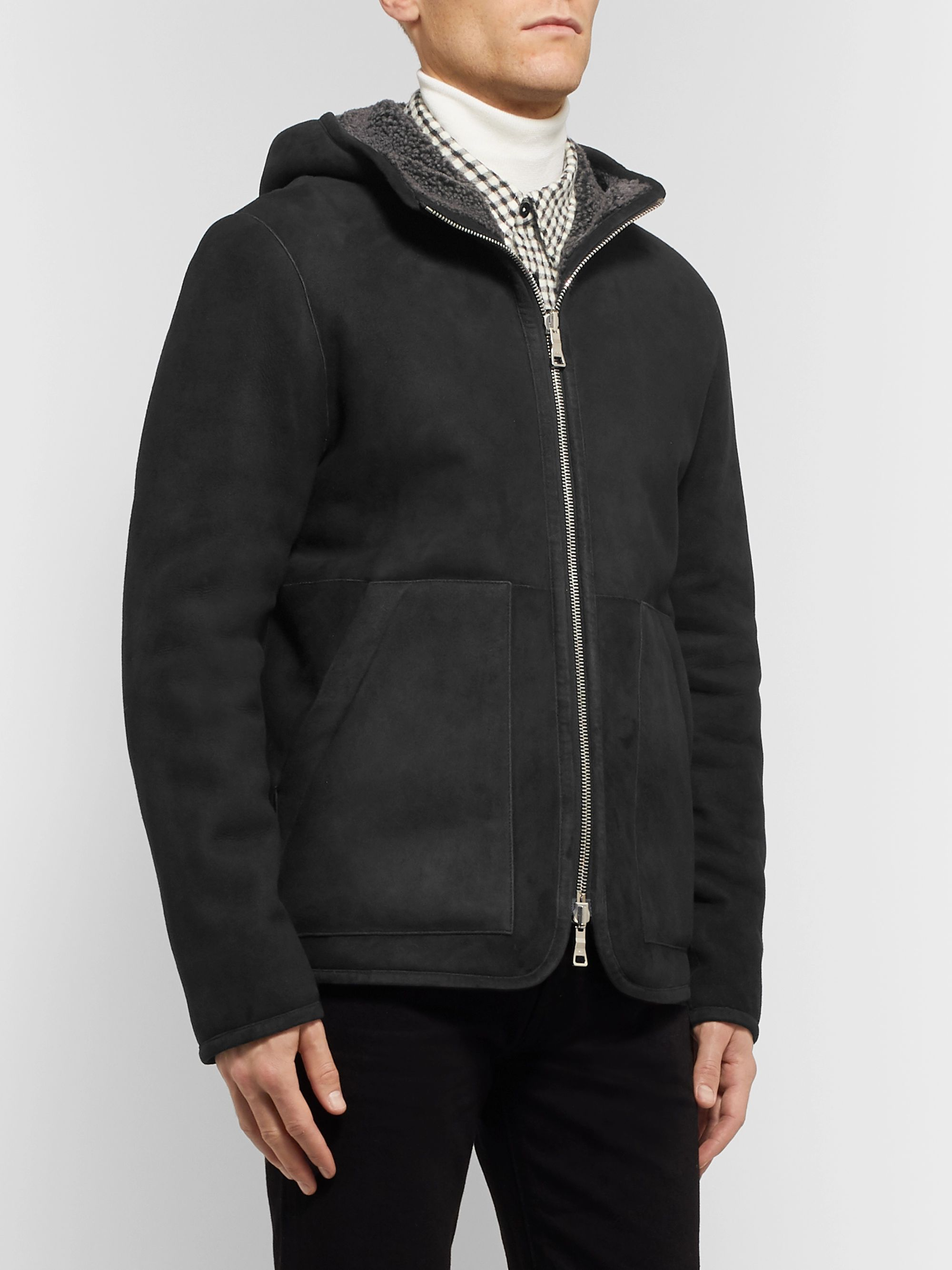 Mr P. Reversible Shearling Hooded Jacket