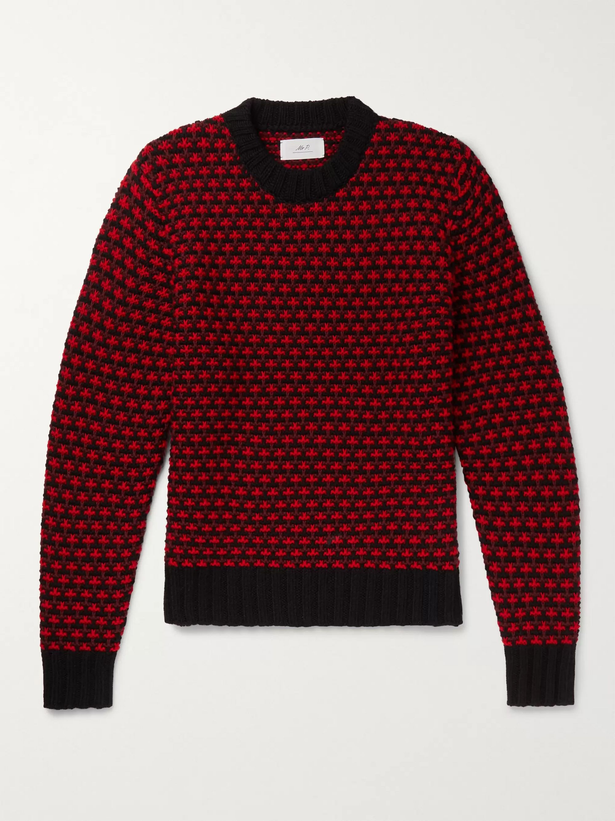 Mr P. Intarsia Merino Wool Sweater