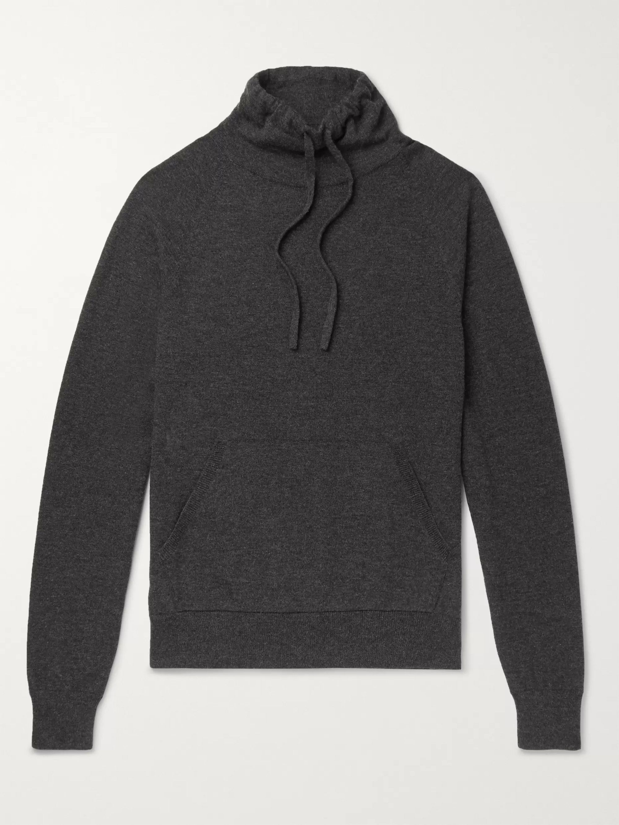 Mr P. Wool and Cashmere-Blend Drawstring Mock-Neck Sweater
