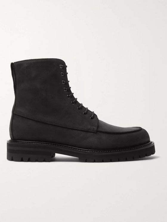 MR P. Jacques Waxed-Suede Boots