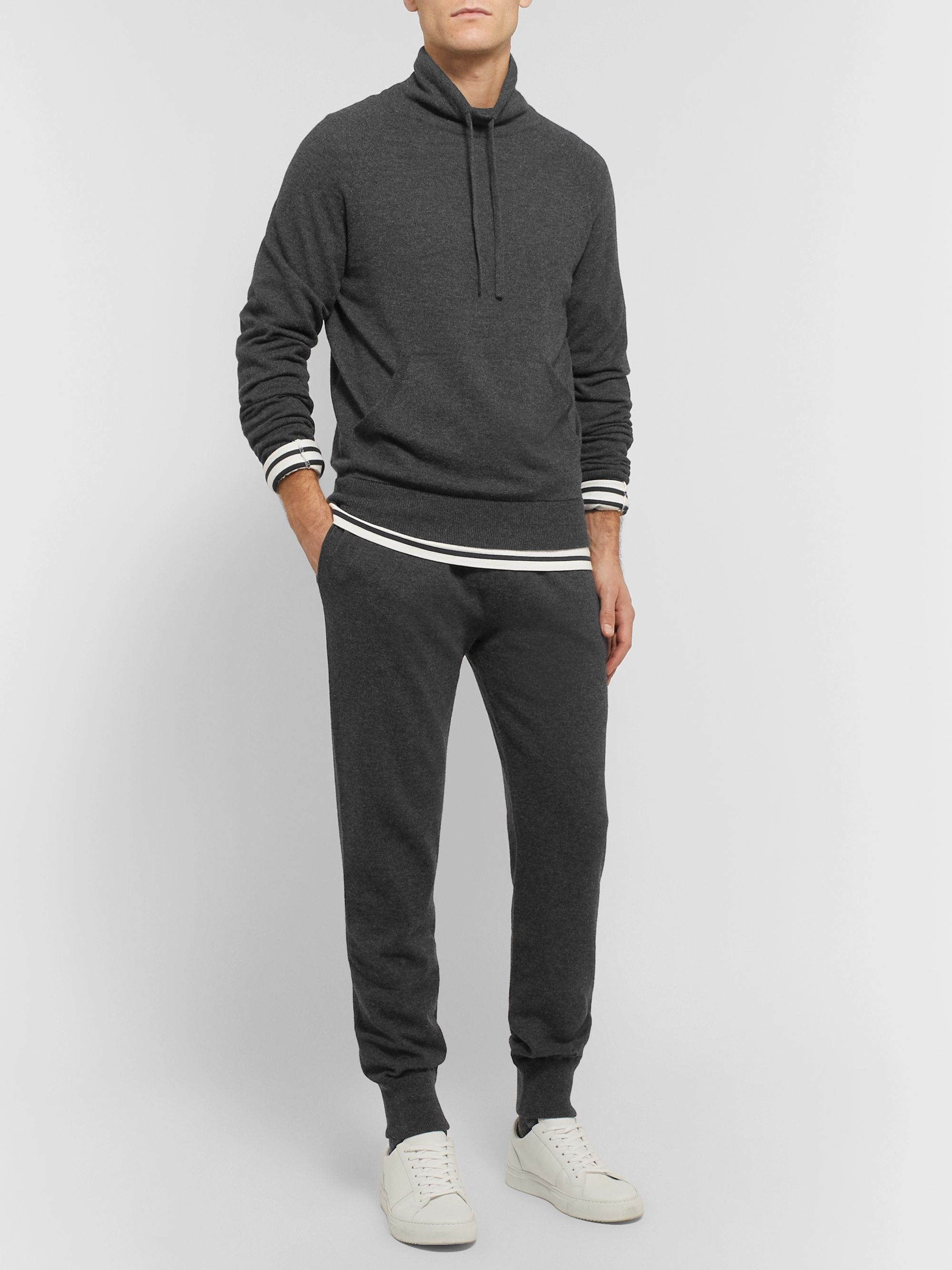 Mr P. Slim-Fit Tapered Mélange Wool and Cashmere-Blend Sweatpants