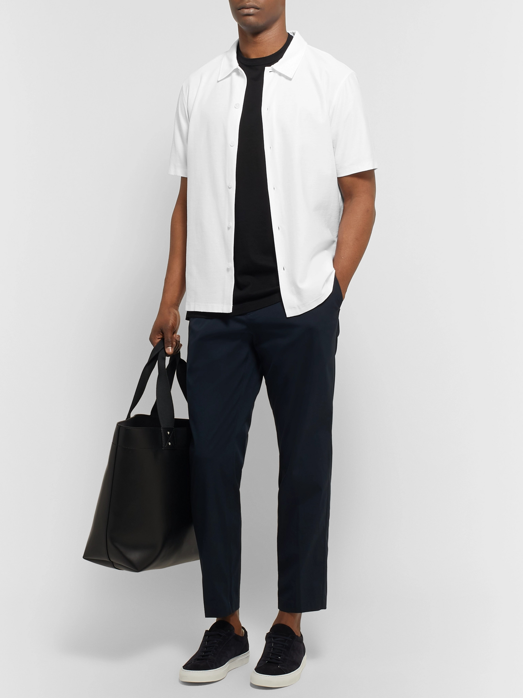 Theory Isak Textured-Cotton Shirt