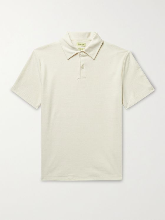 DE BONNE FACTURE Cotton-Terry Polo Shirt