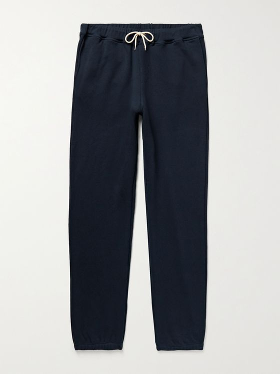 DE BONNE FACTURE Slim-Fit Loopback Cotton-Jersey Sweatpants