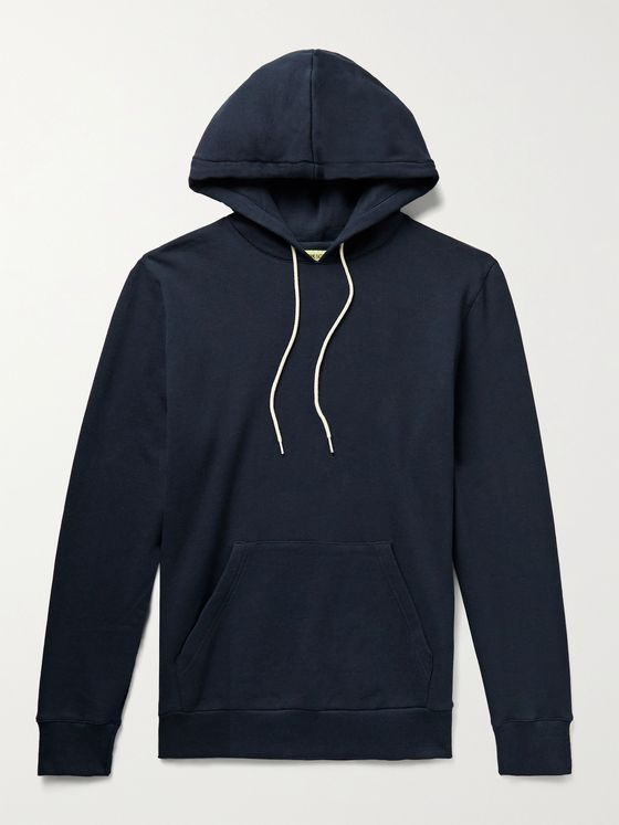 DE BONNE FACTURE Slim-Fit Loopback Cotton-Jersey Hoodie