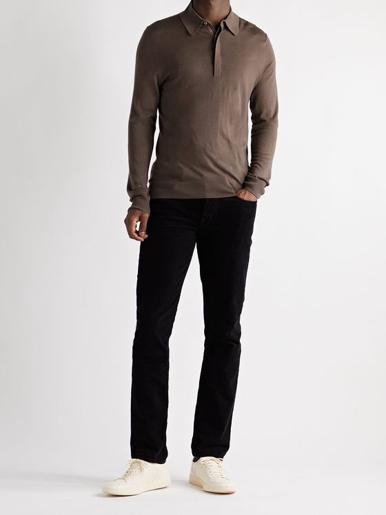 PAUL SMITH Merino Wool Polo Shirt