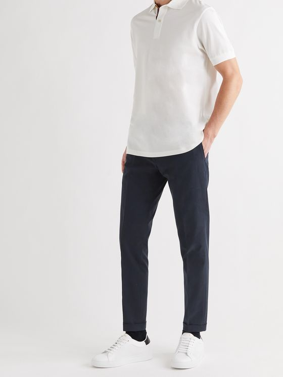 PAUL SMITH Slim-Fit Cotton Trousers