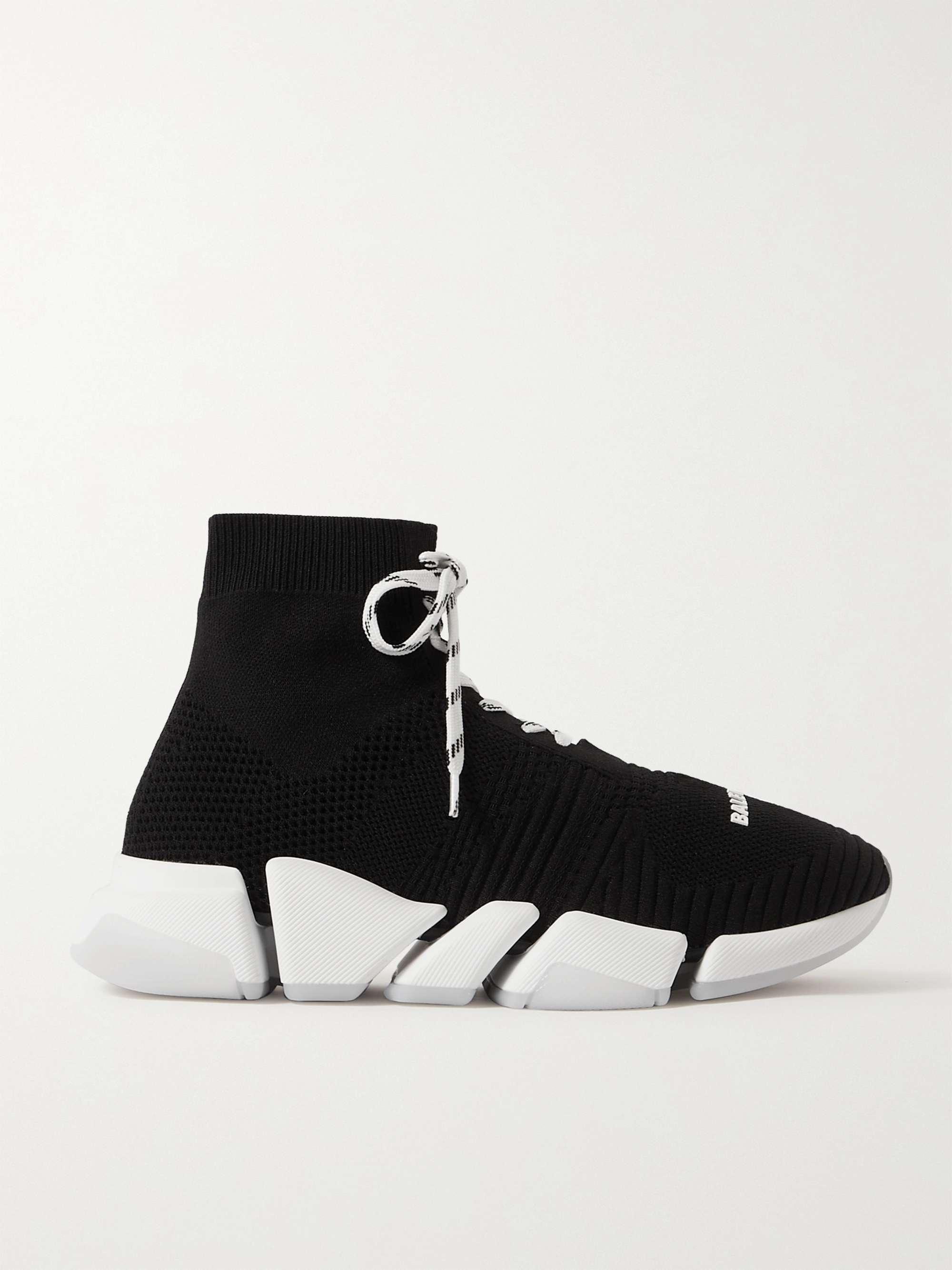 발렌시아가 스피드러너 2.0 남성용 - 블랙 Balenciaga Speed 2.0 Stretch-Knit Sneakers,Black