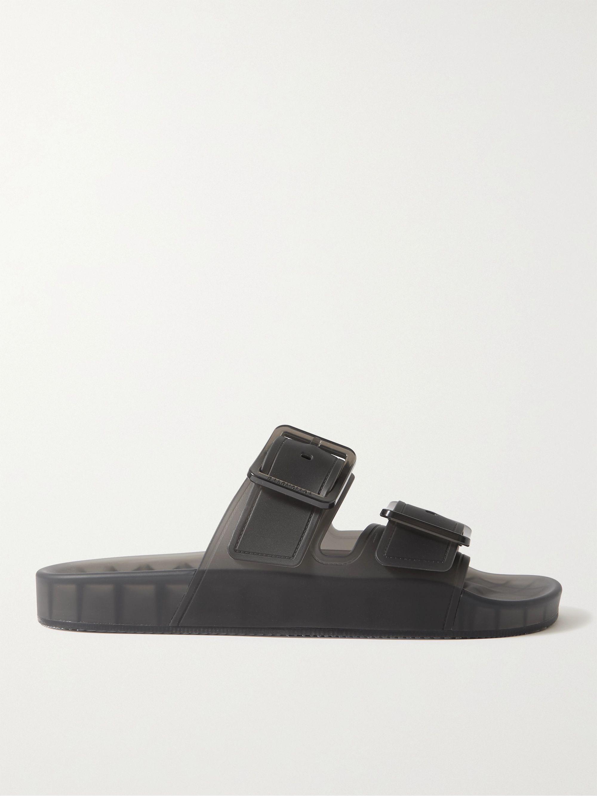 발렌시아가 Balenciaga Mallorca Rubber Sandals,Black