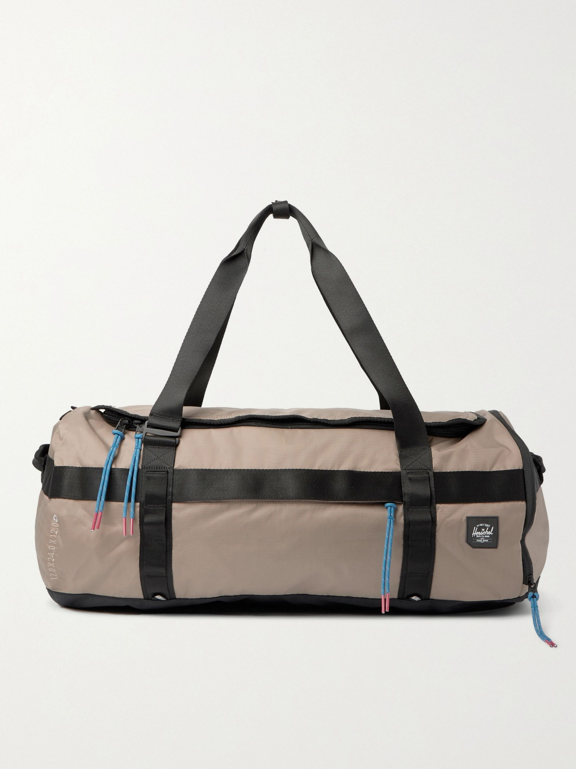 HERSCHEL SUPPLY CO Sutton Logo-Appliquéd 210D Nailhead Dobby-Nylon Duffle Bag